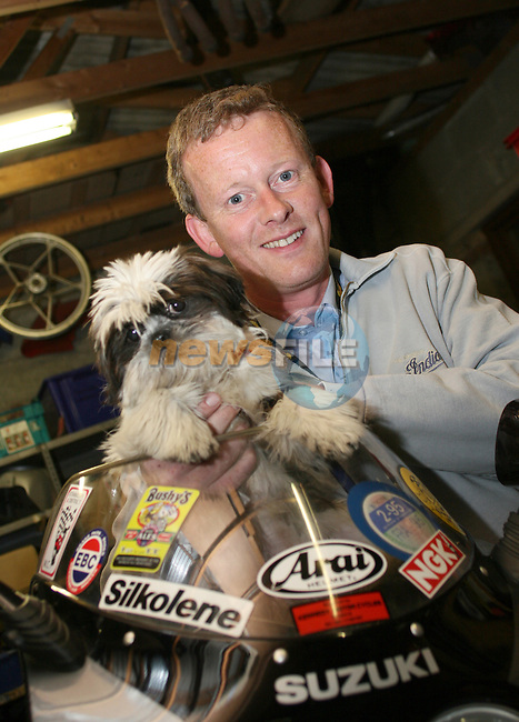 Mark McCloskey with Pepper at Kennedys 60th Anniversary...Photo NEWSFILE/Jenny Matthews.(Photo credit should read Jenny Matthews/NEWSFILE)....This Picture has been sent you under the condtions enclosed by:.Newsfile Ltd..The Studio,.Millmount Abbey,.Drogheda,.Co Meath..Ireland..Tel: +353(0)41-9871240.Fax: +353(0)41-9871260.GSM: +353(0)86-2500958.email: pictures@newsfile.ie.www.newsfile.ie.FTP: 193.120.102.198.