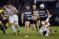 Nick Auterac of Bath Rugby goes on the attack. West Country Challenge Cup match, between Bath Rugby and Exeter Chiefs on October 10, 2015 at the Recreation Ground in Bath, England. Photo by: Patrick Khachfe / Onside Images