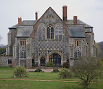 Historic gatehouse building for Butley priory, Butley, Suffolk, England