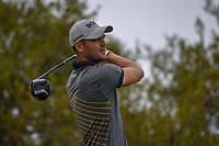 Martin Kaymer (GER) watches his tee shot on 10 during day 3 of the Valero Texas Open, at the TPC San Antonio Oaks Course, San Antonio, Texas, USA. 4/6/2019.<br /> Picture: Golffile | Ken Murray<br /> <br /> <br /> All photo usage must carry mandatory copyright credit (&copy; Golffile | Ken Murray)