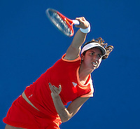 CHRISTINA McHALE (USA) against LUCIE SAFAROVA (CZE) in the first round of the Women's singles. Christina McHale beat Lucie Safarova 6-2 6-4..16/01/2012, 16th January 2012, 16.01.2012..The Australian Open, Melbourne Park, Melbourne,Victoria, Australia.@AMN IMAGES, Frey, Advantage Media Network, 30, Cleveland Street, London, W1T 4JD .Tel - +44 208 947 0100..email - mfrey@advantagemedianet.com..www.amnimages.photoshelter.com.