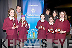 U13 winners of the Chapter 23 Credit Union Quiz from the South Kerry Schools which took place in Foilmore Community Centre on Sunday were the girls team from St. Josephs NS Cahersiveen pictured front l-r; Grace O'Connell, Gaillimh Donegan, Nathalie O'Connor, Ciara Devlin, Hope Boyle,  back l-r; Michael O'Connell(Chairman CCU), Bernadette O'Driscoll(Marketing CCU) and Elma Shine(Manager CCU).