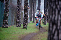 David Vanderpoel (NLD/BKCP-Powerplus) leading the race in the first lap<br /> <br /> Zolder CX UCI World Cup 2014