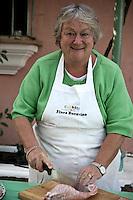 Portrait of Jeannie Chesterton preparing a meal