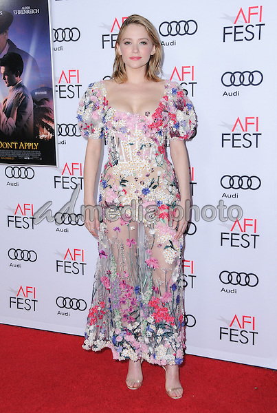 "10 November 2016 - Hollywood, California. Haley Bennett. AFI FEST 2016 - Opening Night Premiere Of ""Rules Don't Apply"" held at TCL Chinese Theater. Photo Credit: Birdie Thompson/AdMedia"