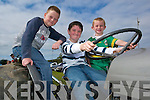 Having a ride on a vintage tractor at the Lisselton Vintage and Family Fun Day on Sunday were Michael Creagh, Kielduff, Sean Cremin, Ballyegan and Tadgh Kerins, Blennerville.   Copyright Kerry's Eye 2008
