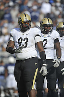 15 October 2011:  Purdue DT Kawann Short (93)..The Penn State Nittany Lions defeated the Purdue Boilermakers 23-18 at Beaver Stadium in State College, PA.