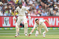 26th December 2019; Melbourne Cricket Ground, Melbourne, Victoria, Australia; International Test Cricket, Australia versus New Zealand, Test 2, Day 1; Trent Boult of New Zealand dives for the ball - Editorial Use