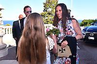"""---- NO TABLOIDS, NO WEB -- EXCLUSIF - Andrea Casiraghi et son épouse Tatiana lors de la Ciné-conférence avec la projection du film """"L'invention de Monte Carlo"""", 150 ans d'histoire en images, proposée par les Archives audiovisuelles de Monaco et les Archives du Palais Princier de Monaco, le 22 juin 2016 à l'Opéra Garnier de Monaco. Ce film documentaire commenté en direct sur la scène de l'Opéra relate toute l'histoire de ce quartier de la Principauté : """"Monte Carlo"""" rendu célébre dès le début du XXeme siécle par son Casino puis par les nombreuses manifestations de prestiges qui y ont été organisées autant culturelles, comme les ballets ou les concerts de musique classique, ou que le Festival de Télévision, mais aussi sportives comme les départs des Rallyes de Monte Carlo. A travers ce quartier mythique de la Principauté, le spectateur est plongé dans l'histoire de Monaco et de son développement touristique et économique, de la création de la Société des Bains de Mer (SBM), au face à face entre le Prince Rainier III et Onassis, sans oublier les nombreux films tournés à Monte Carlo. # LE PRINCE ALBERT DE MONACO ET LA PRINCESSE CAROLINE A UNE CINE-CONFERENCE A L'OPERA GARNIER DE MONACO"""