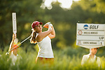 STILLWATER, OK -  Angelica Moresco of Alabama tees off on the 18th during the Division I Women's Golf Team Match Play Championship held at the Karsten Creek Golf Club on May 23, 2018 in Stillwater, Oklahoma. (Photo by Shane Bevel/NCAA Photos via Getty Images)