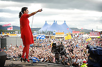 Sharleen Spiteri on the main stage at T in the Park....
