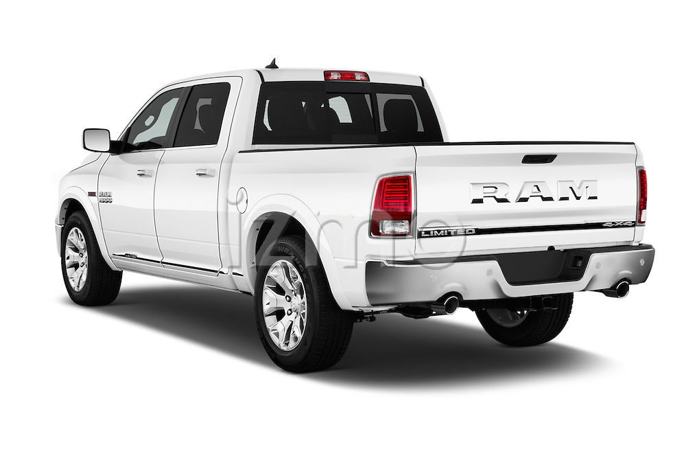 Car pictures of rear three quarter view of 2016 Ram 1500 Laramie-Limited-Crew 4 Door Pickup Angular Rear