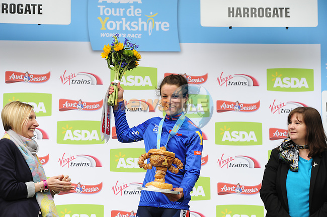 Elizabeth Deignan (ENG) Boels Dolmans wins the ASDA Women's Tour de Yorkshire 2017 running 122.5km from Tadcaster to Harrogate, England. 29th April 2017. <br /> Picture: ASO/P.Ballet | Cyclefile<br /> <br /> <br /> All photos usage must carry mandatory copyright credit (&copy; Cyclefile | ASO/P.Ballet)