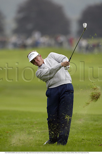 COLIN MONTGOMERIE (SCO) plays from the rough, 2002 American Express World Golf Championships, Mount Juliet, Co Kilkenny, Ireland, 020922. Photo: Neil Tingle/Action Plus...golf golfer player............................. ........................