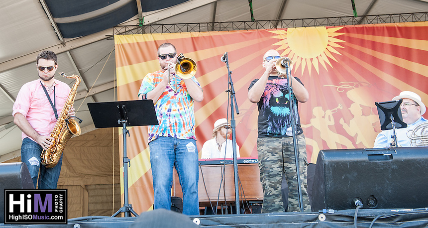 Johnny Sketch and the Dirty Notes perform at the 2014 Jazz and Heritage Festival in New Orleans, LA.
