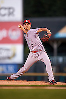 Syracuse Chiefs starting pitcher A.J. Cole (11) delivers a pitch during a game against the Rochester Red Wings on July 1, 2016 at Frontier Field in Rochester, New York.  Rochester defeated Syracuse 5-3.  (Mike Janes/Four Seam Images)