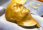 Bronze death mask of Napoleon Bonaparte, Bowood House and gardens, Calne, Wiltshire, England, UK