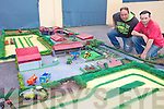 MODEL: Ballyduff men Sean Healy and Padraig Nolan with part of their 1,400 square foot scale model of north of farmland which goes on display in Listowel this weekend.