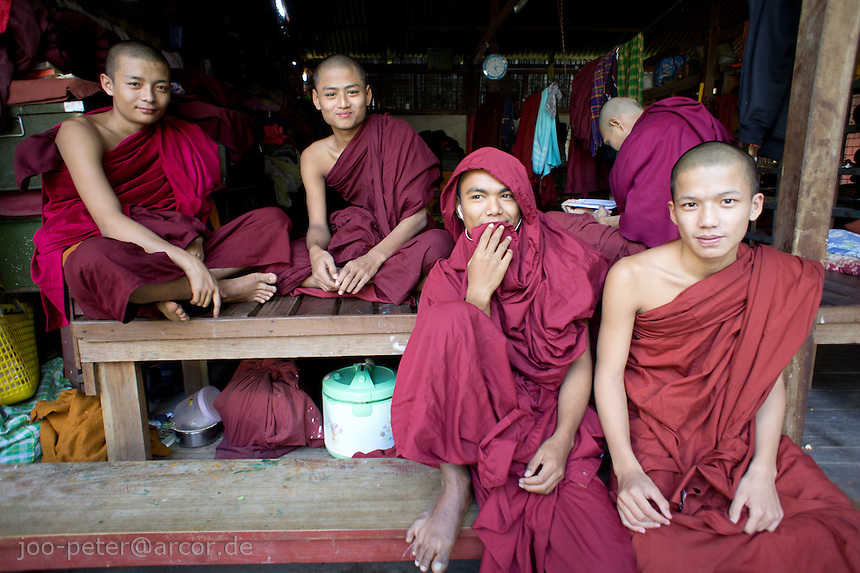 monks in monastery Ma Soe Yein Nu Kyaung, Mandalay, Myanmar, 2011