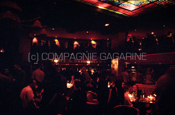 """Jean Michel Jarre's exclusive show case of his new album """"Metamorphoses"""" in the Man Ray Bar, Paris (France, 31/01/2000)"""