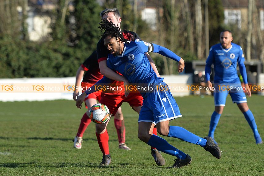 Dwade James of Walthamstowduring Walthamstow vs Sawbridgeworth Town, Essex Senior League Football at Wadham Lodge Sports Ground on 8th February 2020