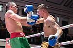 Charlie Beardon vs Kevin McCauley 4x3 - Middleweight Contest During Goodwin Boxing - Date With Destiny. Photo by: Simon Downing.<br /> <br /> Saturday September 23rd 2017 - York Hall, Bethnal Green, London, United Kingdom.