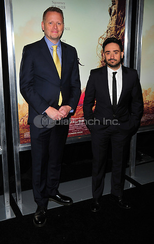 New York, NY: December 7: Patrick Ness, J.A. Bayona attends 'A Monster Calls' New York Premiere at AMC Loews Lincoln Square 13 theater on December 7, 2016 in New York City.@John Palmer / Media Punch