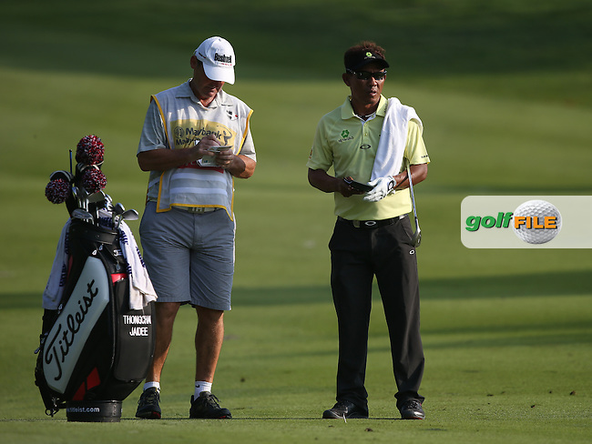 Thongchai Jaidee (THA) recovered from a rocky start during Round One to finish par at the 2014 Maybank Malaysian Open at the Kuala Lumpur Golf & Country Club, Kuala Lumpur, Malaysia. Picture:  David Lloyd / www.golffile.ie