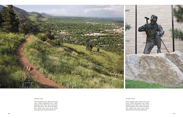 """Personal photo tours of Boulder by John.<br /> From: """"Boulder, Colorado: A Photographic Portrait"""" by John Kieffer."""