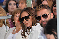 Victoria Beckham &amp; Ricky Martin at the Hollywood Walk of Fame Star Ceremony honoring actress Eva Longoria, Los Angeles, USA 16 April 2018<br /> Picture: Paul Smith/Featureflash/SilverHub 0208 004 5359 sales@silverhubmedia.com