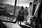Potosi, Bolivia. Two miners wives walking close to the miners market in Potosi.