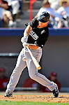 2 March 2011: Florida Marlins outfielder Bryan Petersen in action during a Spring Training game against the Washington Nationals at Space Coast Stadium in Viera, Florida. The Nationals defeated the Marlins 8-4 in Grapefruit League action. Mandatory Credit: Ed Wolfstein Photo