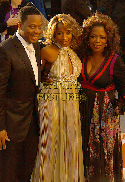 KENDU ISSACS, MARY J. BLIGE & OPRAH WINFREY.The 2007 Vanity Fair Oscar Party Hosted by Graydon Carter held at Morton's, West Hollywood, California, USA,.25 February 2007..half length 3/4.CAP/ADM/GB.©Gary Boas/AdMedia/Capital Pictures.