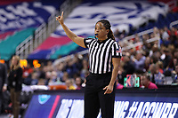 GREENSBORO, NC - MARCH 06: Official Talisa Green during a game between Boston College and Duke at Greensboro Coliseum on March 06, 2020 in Greensboro, North Carolina.