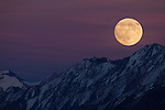 Moonrise over mountains, Ak-Shyirak Range, Sarychat-Ertash Strict Nature Reserve, Tien Shan Mountains, eastern Kyrgyzstan