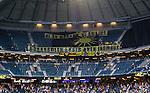 Solna 2015-07-26 Fotboll Allsvenskan AIK - IF Elfsborg :  <br /> Elfsborgs supportrar med banderoller inf&ouml;r matchen mellan AIK och IF Elfsborg <br /> (Foto: Kenta J&ouml;nsson) Nyckelord:  AIK Gnaget Friends Arena Allsvenskan Elfsborg IFE inomhus interi&ouml;r interior supporter fans publik supporters