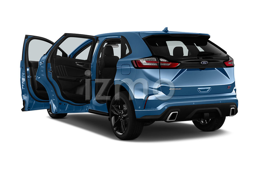 Car images close up view of a 2019 Ford Edge ST 5 Door SUV doors
