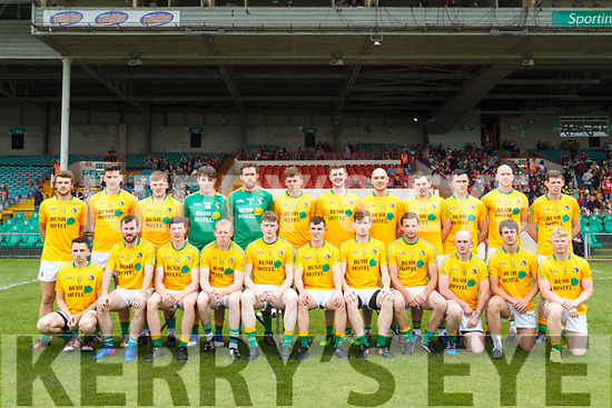 Leitrim team photo. All Ireland Junior Championship Semi-Final, Kerry V Leitrim. 22/07/2017. Gaelic Grounds, Limerick, Co Limerick. Credit: Conor Wyse