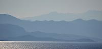 Michael McCollum.6/12/11.Coastal mountains near the old city of Dubrovnik, Croatia