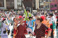 PASTO -COLOMBIA, 04-01-2016. Aspecto del desfile La Familia Castañeda, del Carnaval de Negros y Blancos 2016  que se lleva a cabo entre el 2 y el 7 de enero de 2016 en la ciudad de Pasto, Colombia. / Aspect of La Familia Castañeda parade of the Blacks and Whites' Carnival 2016 which is held between 2 and 7 of January 2016 at Pasto, Colombia. Photo: VizzorImage / Leonardo Castro / Cont