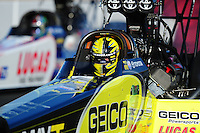 Jul. 16, 2010; Sonoma, CA, USA; NHRA top fuel dragster driver Morgan Lucas during qualifying for the Fram Autolite Nationals at Infineon Raceway. Mandatory Credit: Mark J. Rebilas-