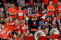 Virginia mascot The Cavalier during the game Jan. 22, 2015, in Charlottesville, Va. Virginia defeated Georgia Tech 57-28.