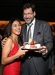 "Teresa Avia Lim and David Staller attends the Opening Night of The Gingold Theatrical Group production of Bernard Shaw's ""Caesar & Cleopatra"" at Theatre Row Theatre on September 24, 2019 in New York City."