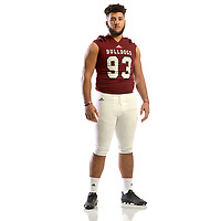 NWA Democrat-Gazette/ANDY SHUPE<br /> Isaiah Nichols of Springdale is the Northwest Arkansas Democrat-Gazette Large School Defensive Player of the Year. Wednesday, Dec. 13, 2017.