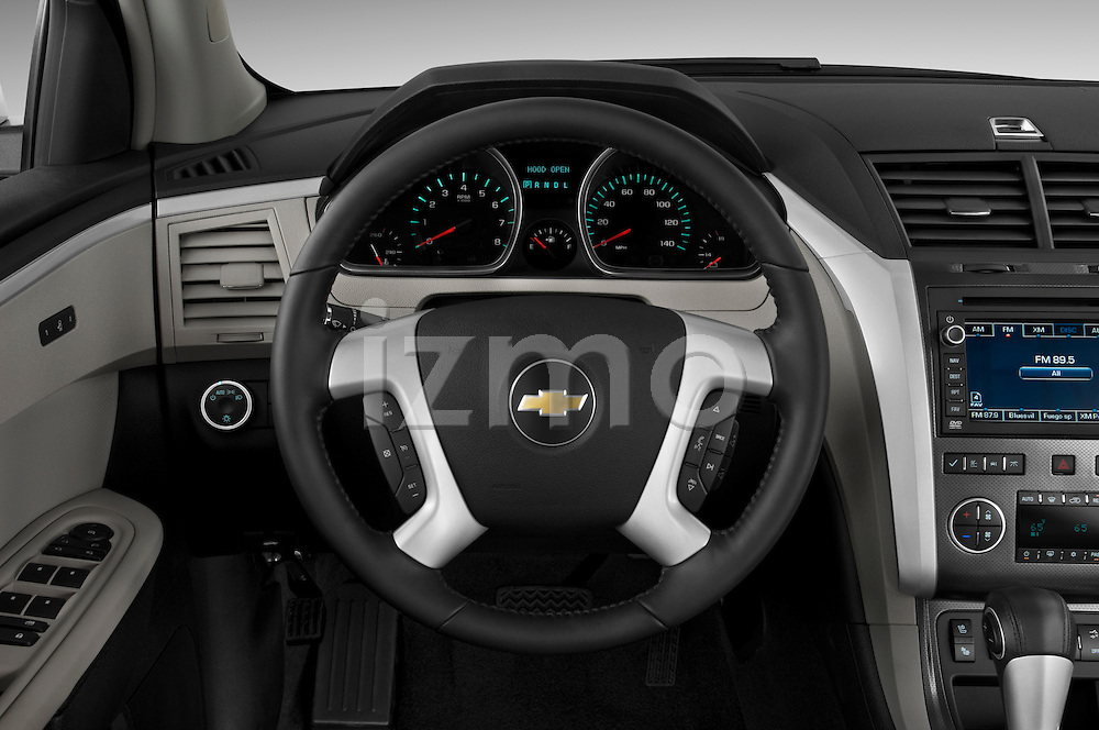 Steering wheel view of a 2009 Chevrolet Traverse LTZ