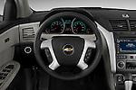 Steering wheel view of a 2009 Chevrolet Traverse LTZ
