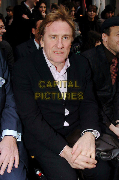 GERARD DEPARDIEU.Francesco Smalto, Men's Fashion Show in Paris, Autumn/Winter 2006-2007.January 31st, 2006.Ref: OME.half length .www.capitalpictures.com.sales@capitalpictures.com.© Capital Pictures.