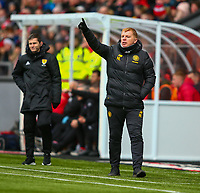 9th February 2020; Broadwood Stadium, Cumbernauld, North Lanarkshire, Scotland; Scottish Cup Football, Clyde versus Celtic; Celtic Manager Neil Lennon gives instructions from the touchline