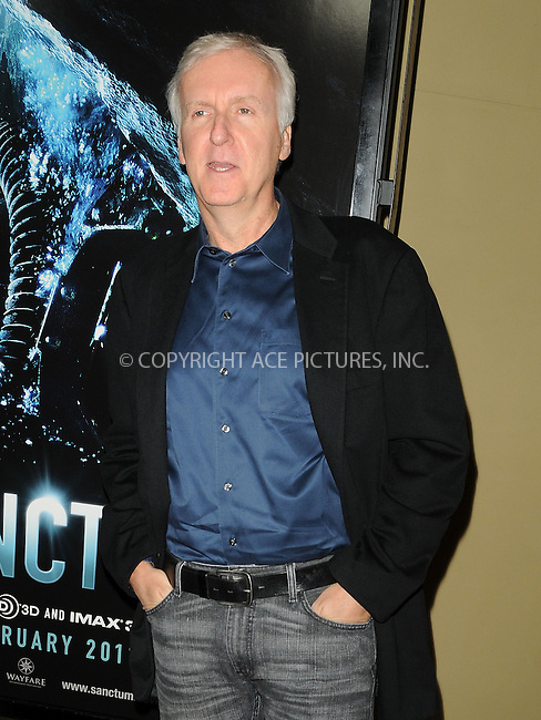 WWW.ACEPIXS.COM . . . . . ....January 31 2011, Los Angeles....Producer James Cameron at the Premiere of Universal Pictures' 'Sanctum' at Grauman's Chinese Theatre on January 31, 2011 in Hollywood, CA.....Please byline: PETER WEST - ACEPIXS.COM....Ace Pictures, Inc:  ..(212) 243-8787 or (646) 679 0430..e-mail: picturedesk@acepixs.com..web: http://www.acepixs.com