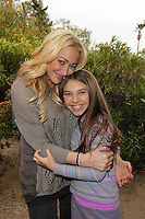 """Jennifer Blanc and Caitlin Carmichael<br /> on the set of """"The Night Visitor 2: Heather's Story"""" by Blanc-Biehn Productions, Private Location, Los Angeles, CA 02-19-14<br /> David Edwards/Dailyceleb.com 818-249-4998"""